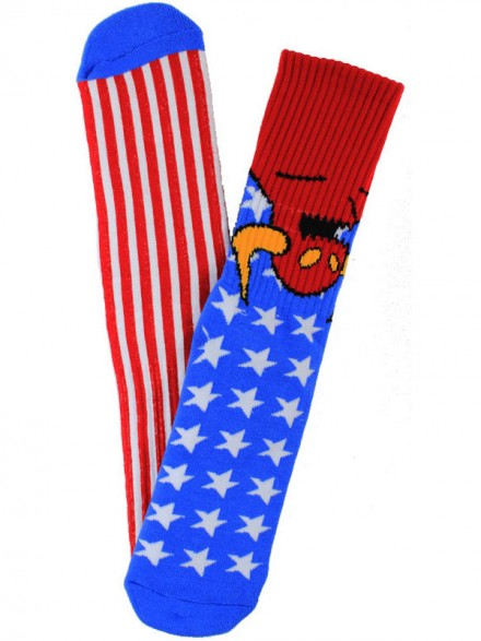 Calcetines Toy Machine American Moster Red Wht Blue