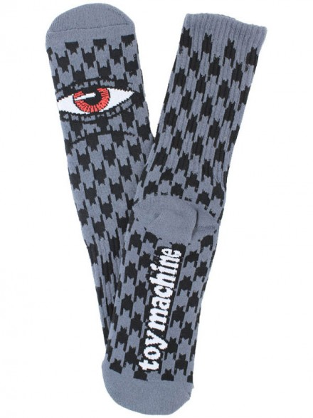 Calcetines Toy Machine Sect Hounds Black Grey