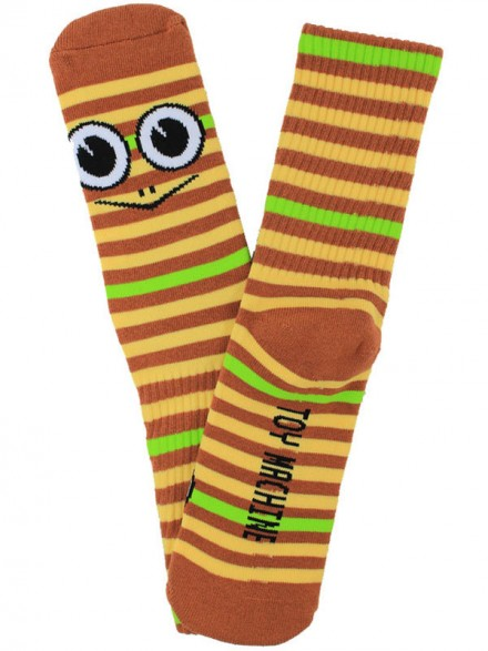 Calcetines Toy Machine Turtle Stripe Brown