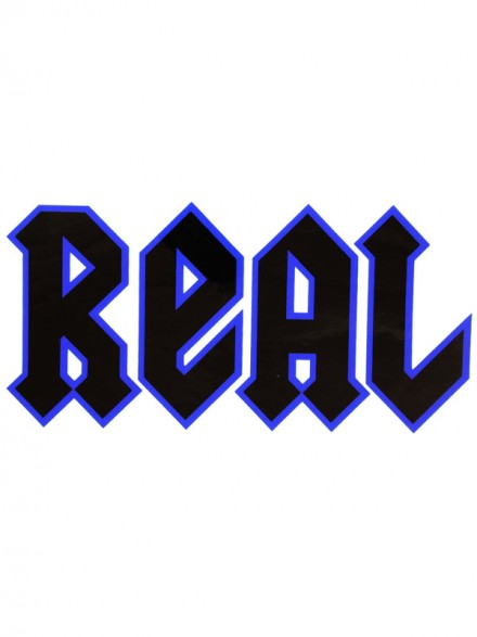 Calcomanía Real Deeds Negro Azul Ch 17x9cm