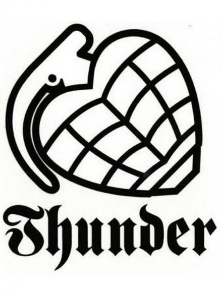 Calcomanía Thunder Ramp Logo G 51x46cm