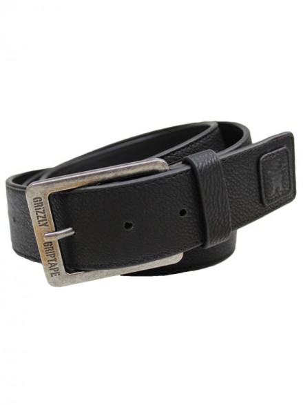 Cinturón Grizzly Pebbled Pu Leather Black