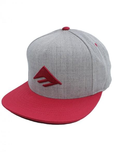 Gorra Emerica Triangle Red Grey