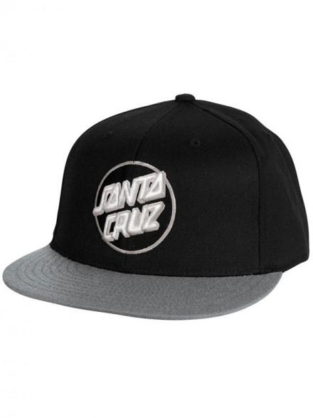 Gorra Santa Cruz Classic Dot Flexfit Black Grey