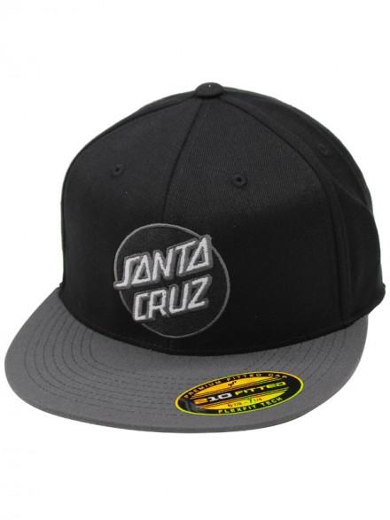 Gorra Santa Cruz Classic Dot Flexfit Stretch Negro Gris