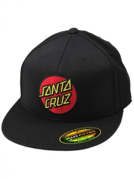 Gorra Santa Cruz Classic Dot Flexfit Stretch Negro