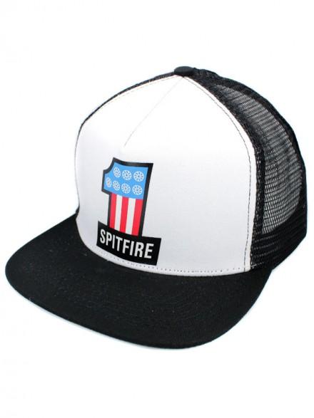 Gorra Spitfire # 1 White Black