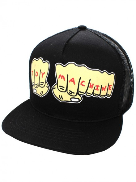 Gorra Toy Machine Fists Mesh Blk/Blk