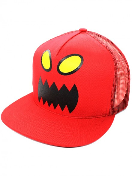 Gorra Toy Machine Monster Face Mesh Red