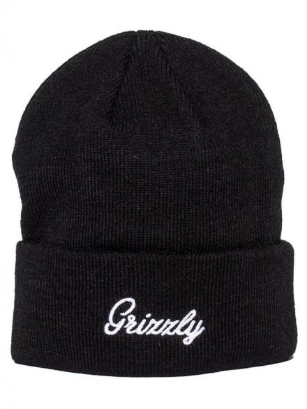 Gorro Grizzly Cursive Fold Black