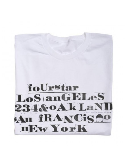 Playera Fourstar Letter Set White M