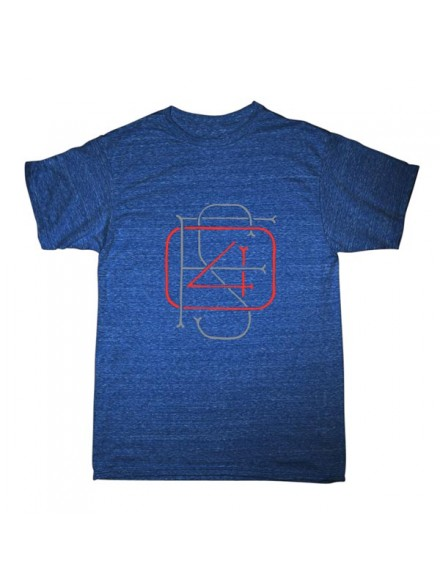 Playera Fourstar Monogram Blu Htr