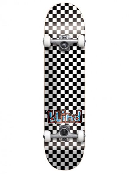 Patineta Completa Blind Checkerboard Blk/Wht 7.75