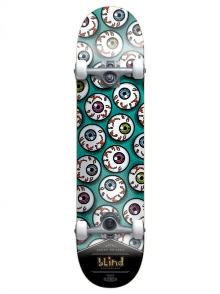 Patineta Completa Blind Eye Balls Blue/White 7.7