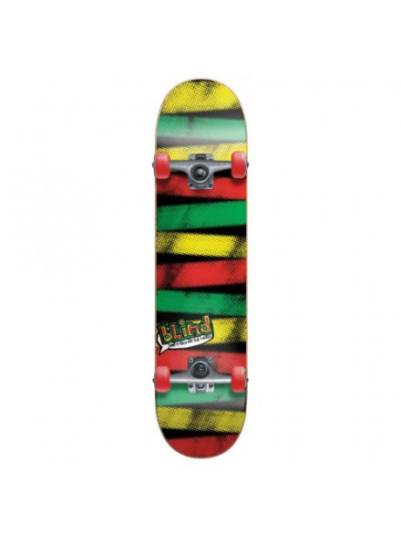 Patineta Completa Blind Stripes Rasta 7.75