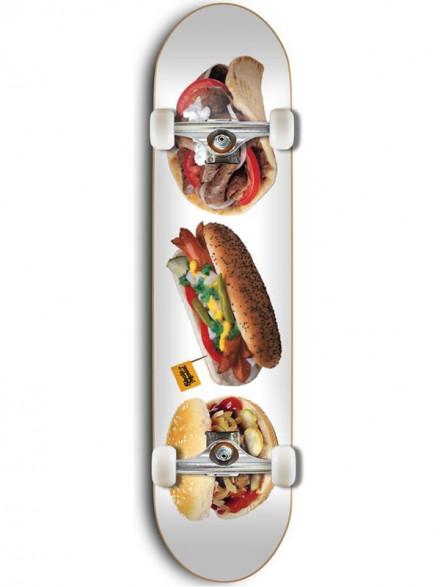 "Patineta Completa Skate Mental Food Deck 7.5"""