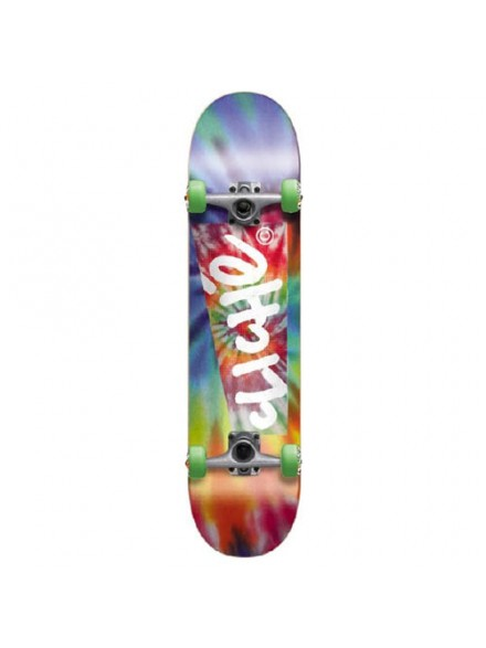 Patineta Completa Cliche Hippy Blue/Red 7.8