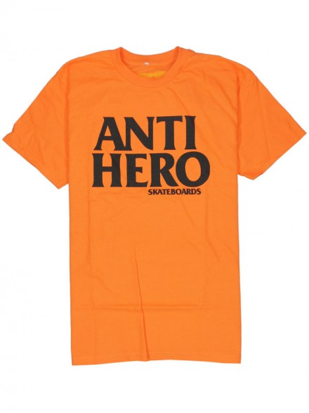 Playera Antihero Blackhero Orange Black