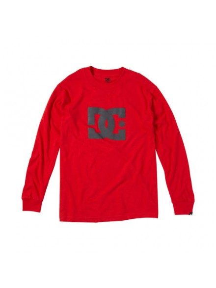 Playera Dc Star L/S Ath Red Xlarge