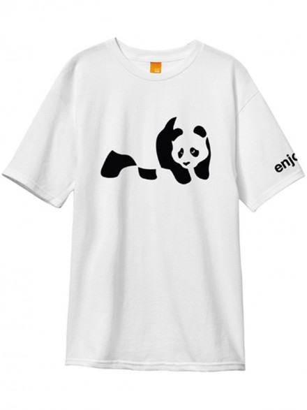 Playera Enjoi Panda Wht
