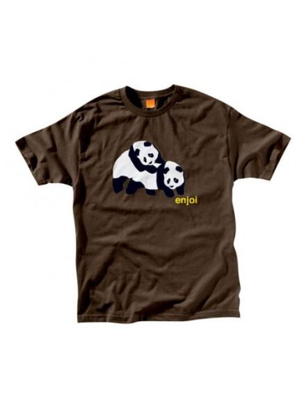 Playera Enjoi Piggyback Pandas S/S Dkch