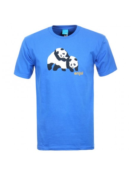 Playera Enjoi Piggyback Pandas S/S Royal Blue