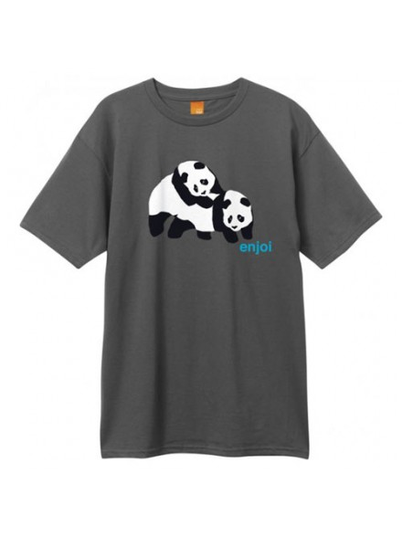 Playera Enjoi Piggyback Pandas S/S Charcoal