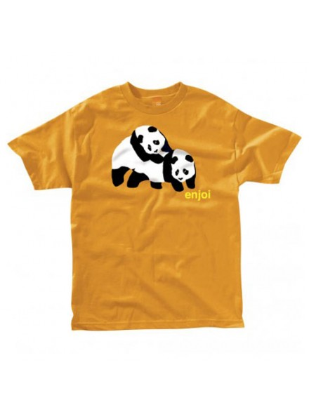 Playera Enjoi Piggyback Pandas S/S Orange S