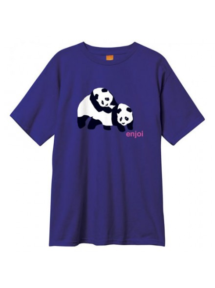 Playera Enjoi Piggyback Pandas S/S Purple