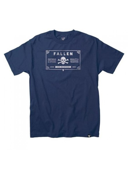 Playera Fallen 100 Proof S/S Mblu