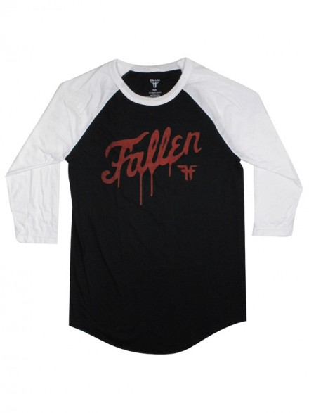 Playera Fallen Diy Fury 3/4 Raglan Blk/Blood Red