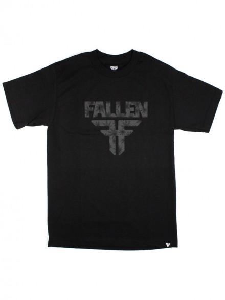 Playera Fallen Insignia S/S Black Leaf