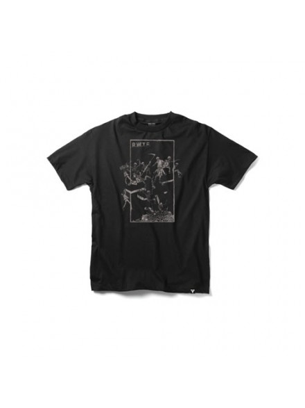 Playera Fallen Probation S/S Black/Grey S