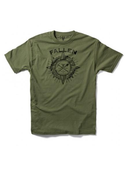 Playera Fallen Rambler S/S Army Blk S