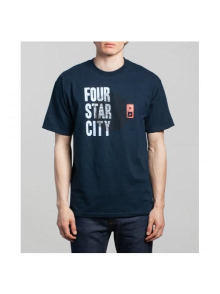 Playera Fourstar Cityscape Navy S