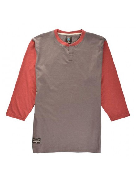 Playera Fourstar Cottonwood 3/4 Burgundy Htr S
