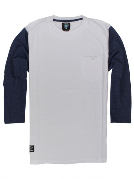 Playera Fourstar Leavenworth 3/4 White Navy