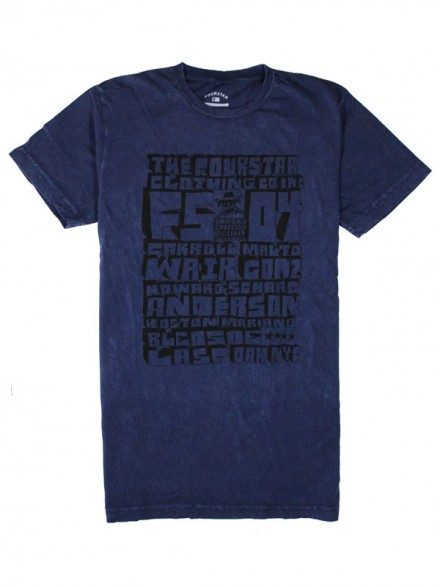 Playera Fourstar Roll Call Navy
