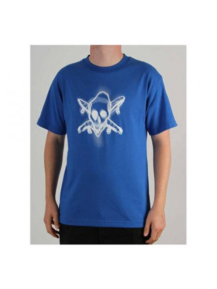 Playera Fourstar Warped Blue M