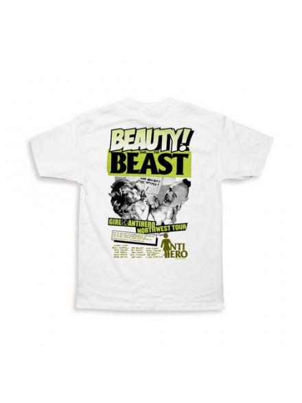 Playera Girl Beauty & The Beast 2008 White