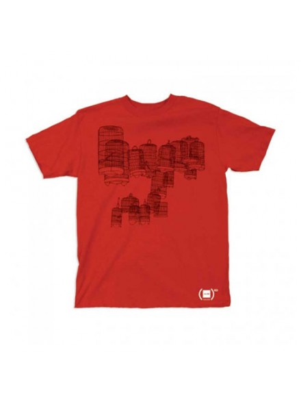 Playera Girl Birdcage Red S