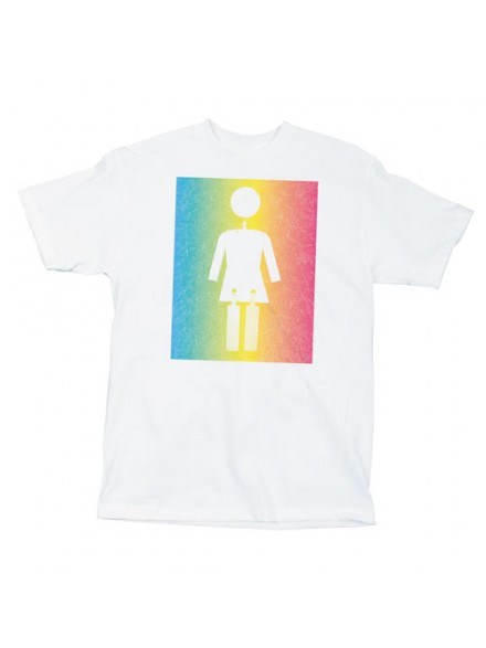 Playera Girl Faded White S