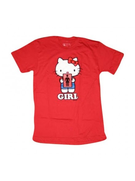 Playera Girl Hello 2 Kitty S/S Premium Red Small