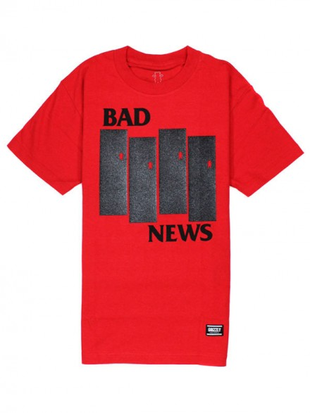 Playera Grizzly Bad Flag Red