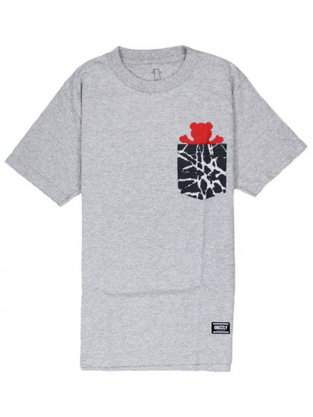 Playera Grizzly Cement Pocket Heather Grey