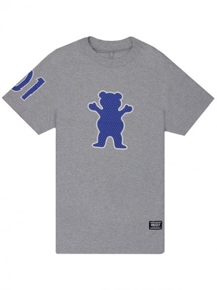 Playera Grizzly Draft Pick OG Bear Heather Grey