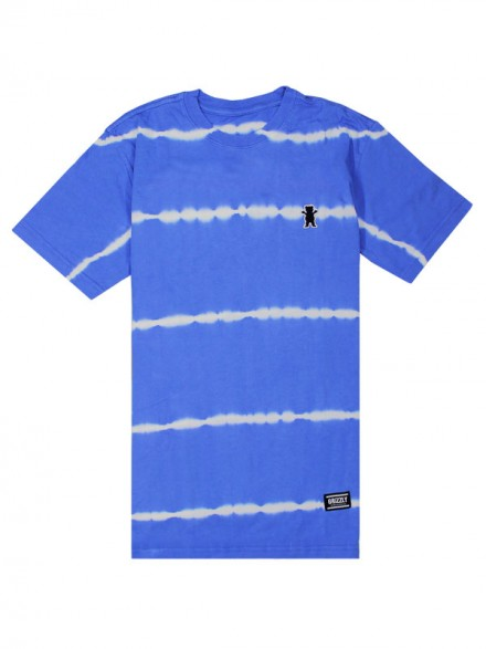 Playera Grizzly Earthquake Stripe Tie Dye Blue