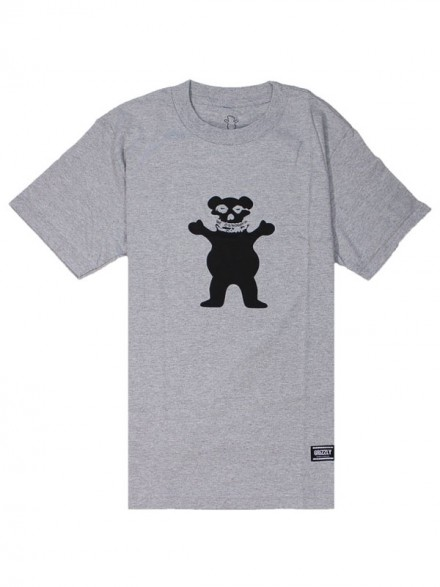 Playera Grizzly Fiend Club OG Heather Grey