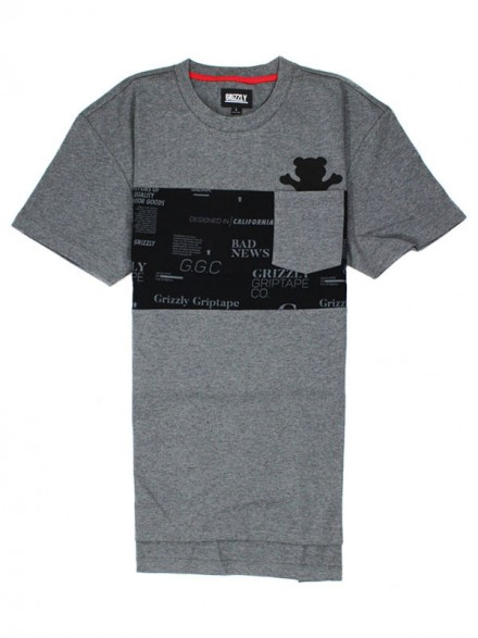 Playera Grizzly Front Runner Pocket Knit Charcoal