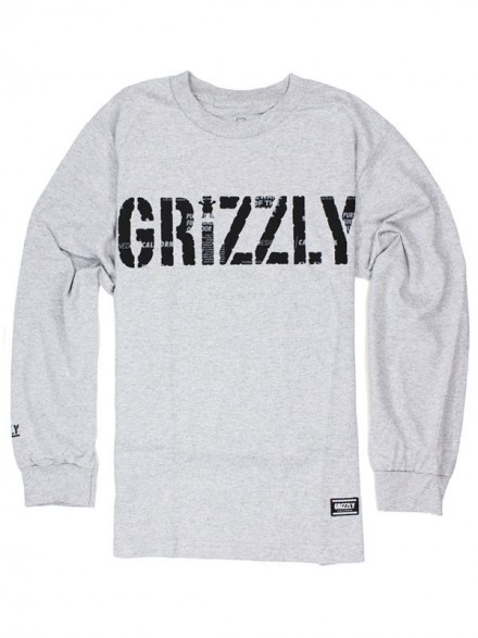 Playera Grizzly Headlines M/L Heather Grey